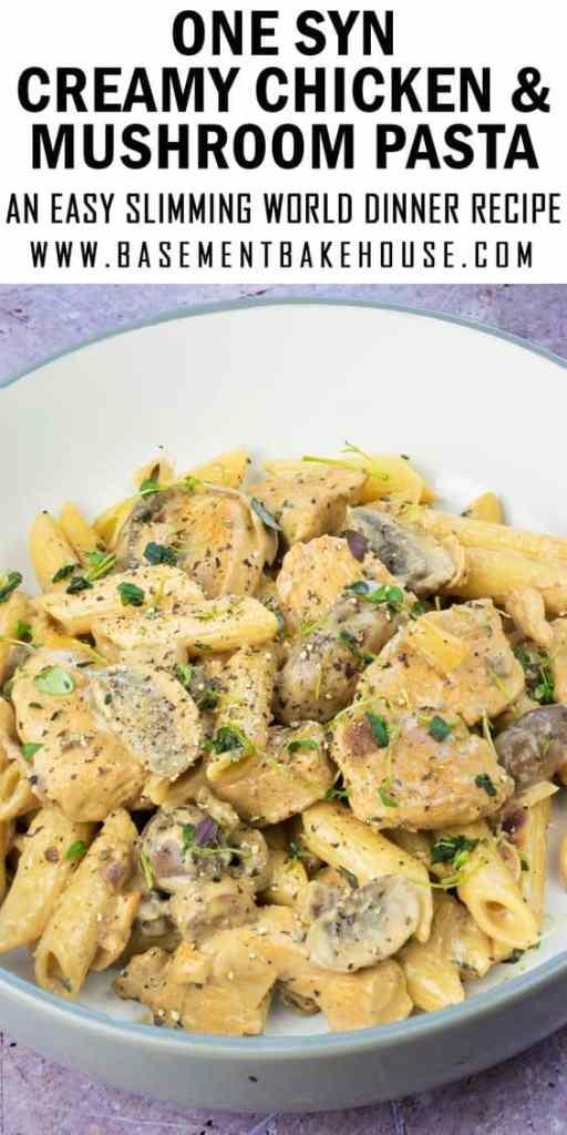 Slimming World Creamy Chicken & Mushroom Pasta