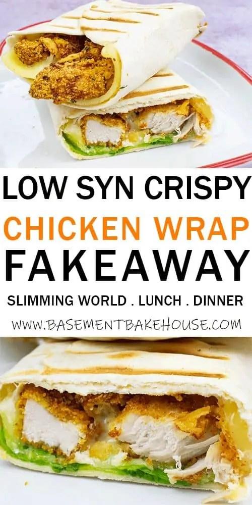 Slimming World Crispy Chicken Wrap