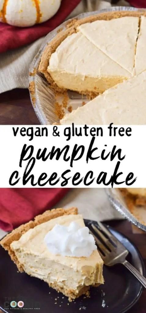Delicious vegan pumpkin cheesecake.