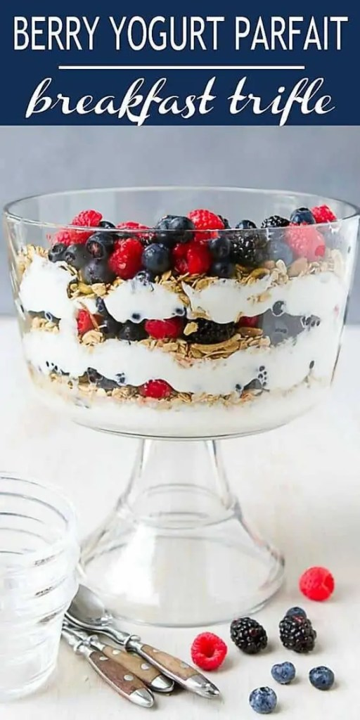 Berry Yogurt Parfait Trifle