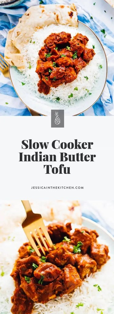 Vegan Slow Cooker Tofu Butter Chicken