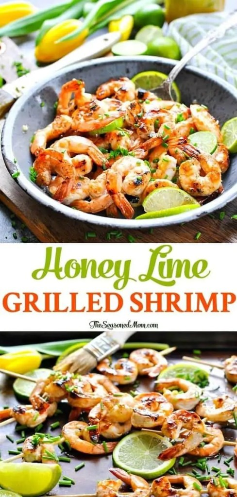 Honey lime grilled shrimp healthy dinner