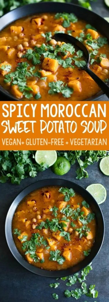 Spicy Moroccan Sweet Potato Soup