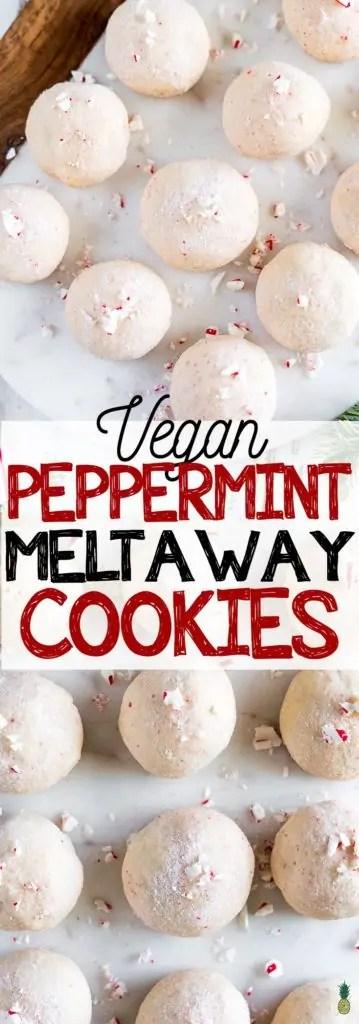 Vegan Peppermint Meltaway Christmas Cookies
