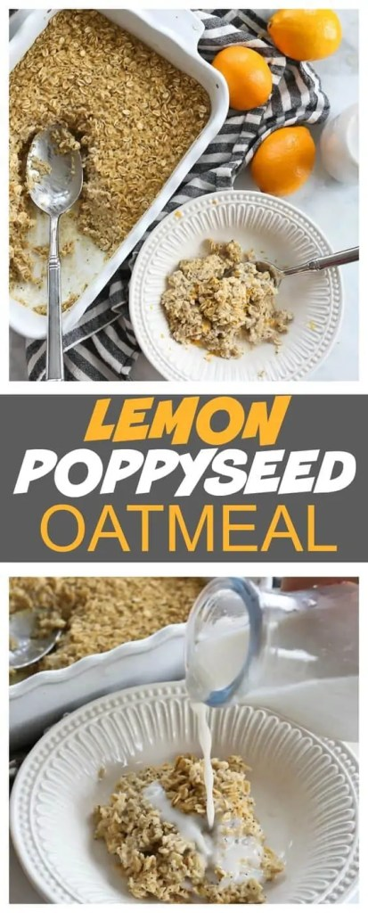 Lemon Poppyseed Oatmeal