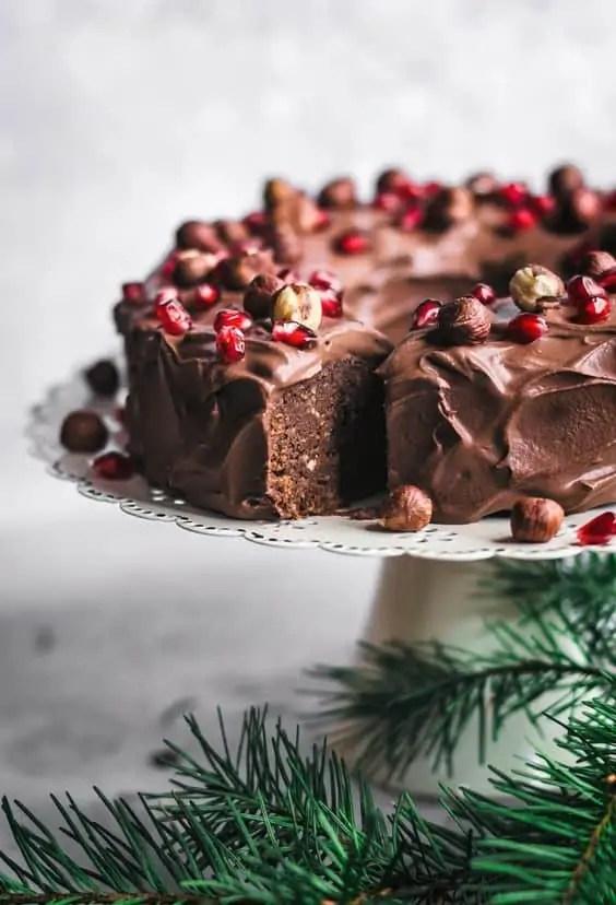 Vegan Chocolate Hazelnut Cake