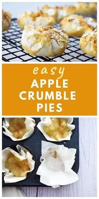 Vegan Apple Crumble Pies