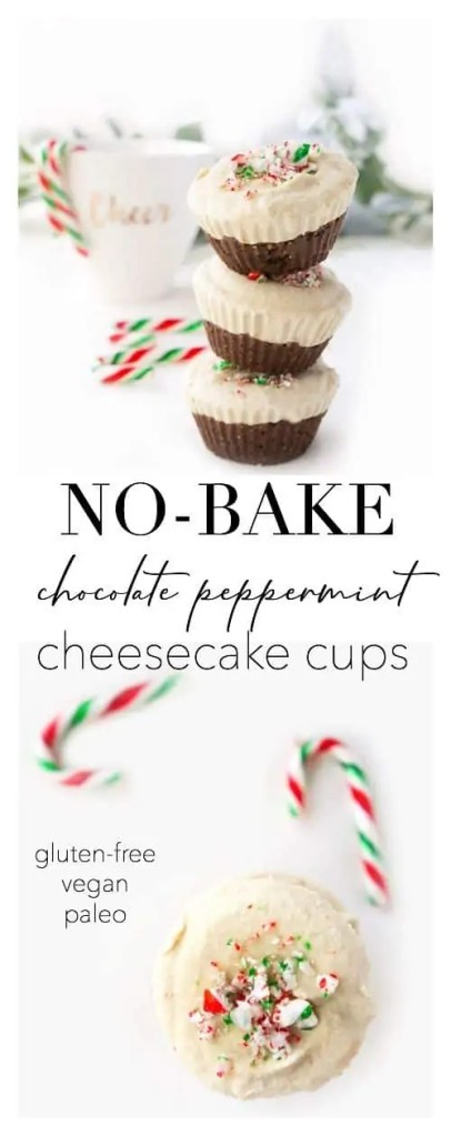 No-Bake Chocolate Peppermint Cheesecake Cups