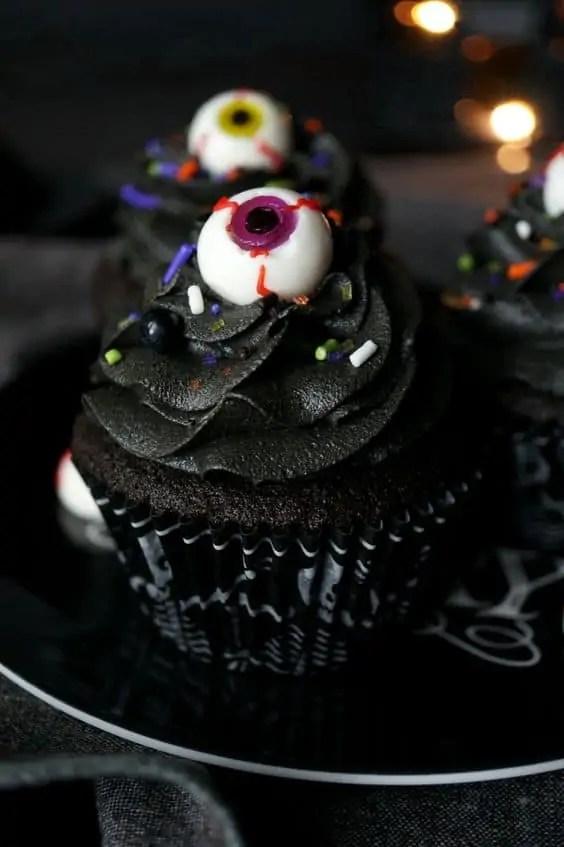 Black Chocolate Cupcakes