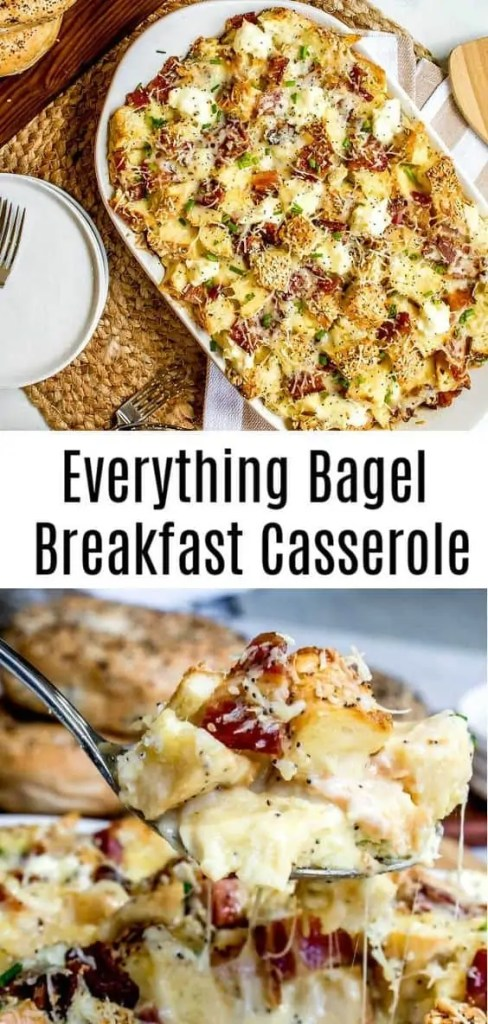 Everything Bagel Make Ahead Breakfast Casserole
