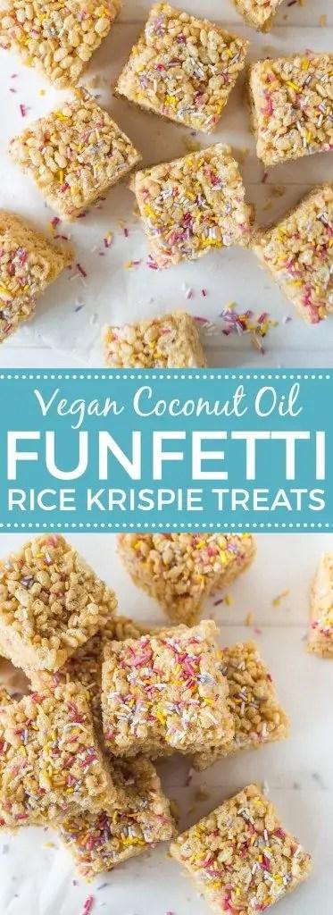 Vegan Funfetti Rice Krispie Treats