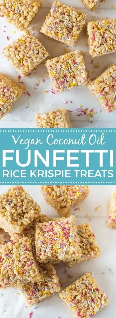 Vegan Funfetti Rice Krispie Treats