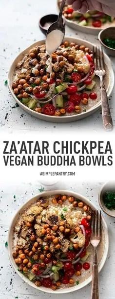 Za'atar Chickpea Vegan Buddha Bowl