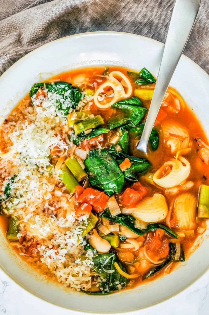 Spring Vegetable Minestrone Soup