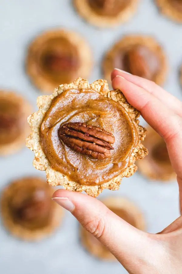Healthy mini pecan pies