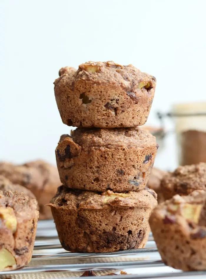 Vegan Apple Cinnamon Raisin Muffins