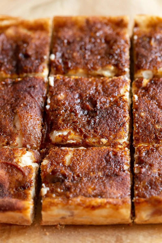 Vegan Apple Custard Squares