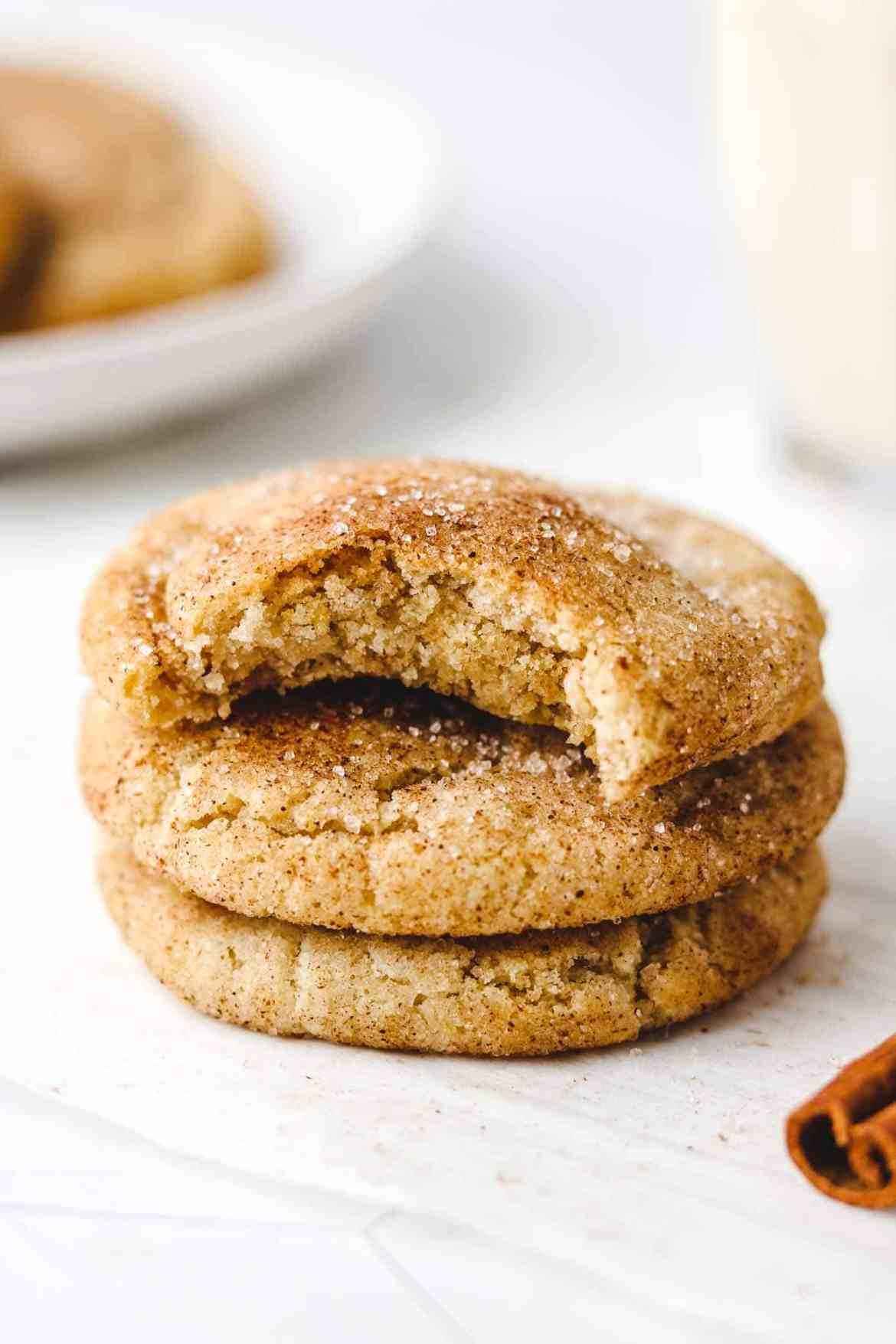 Healthy Vegan Snickerdoodle Cookies