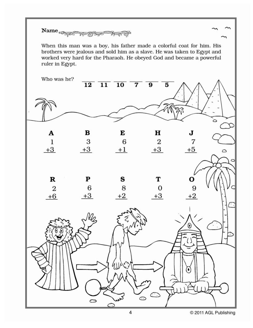 VALUable Bible Tools Math Activities Grades 1 Amp 2
