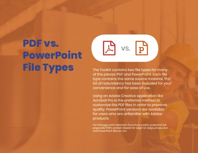 Get Into Gears Toolkit User Guide PDF vs. PPT Page