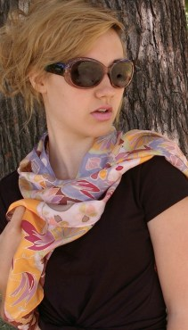 Agnes-Ashe-hand-painted-silk-scarf-Ardith-UmberModel-x