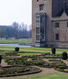 Oxburgh Hall south-east tower remodelled Victorian Gothic.