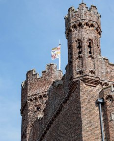 Detail of late-15th century gatehouse at Oxburgh Hall