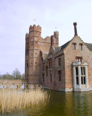 Romantic moat? Also used to receive foul water from the latrines!