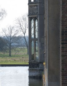 A private bay within a National Trust manor house. Oxburgh Hall, Norfolk