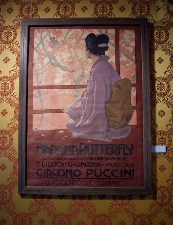 Poster for the 1904 Madama Butterfly Première by Leopoldo-Metlicovitz
