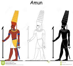 Online photo of Amun with what looks like corn/maize on his head