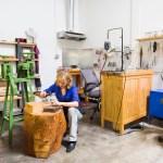Agnes Seebass working in East Austin studio