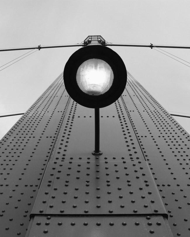 Looking up at Lionsgate Bridge