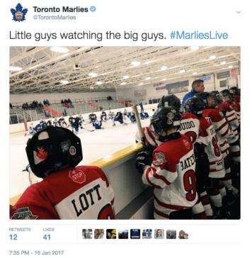 January 16 Tweet-Marlies Practice