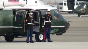 President Obama flew in Marine One to the west side are for a farm tour.  AgNet West photo
