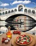 Italian pizza in Venice, Italy