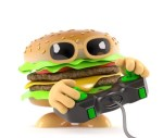 burger playing a video game