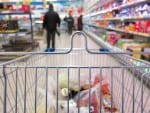 shopping cart at supermarket