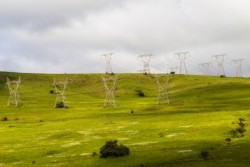 electricity power over rural countryside