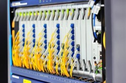 fiber optic with servers