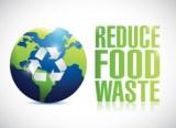 reduce food waste sign illustration design
