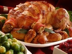 traditional christmas roast turkey platter
