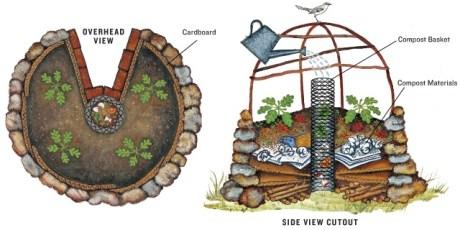 Keyhole garden scheme