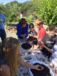 Secretary Ross discusses the importance of healthy soil with students in Calaveras County.