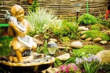 Landscape design of the home garden