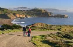 Family hiking at Golden Gate National Recreation Area. Credit NPS photo by Will Elder, Golden Gate National Recreation Area