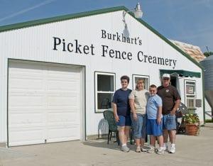 From left: Jill, Jenna, James and Jeff Burkhart (Photo courtesy of Picket Fence Creamery)