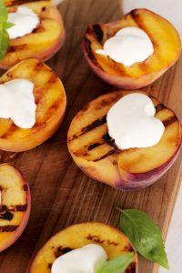 Grilled peach