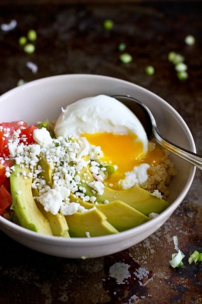 Quinoa Avocado Breakfast Bowl