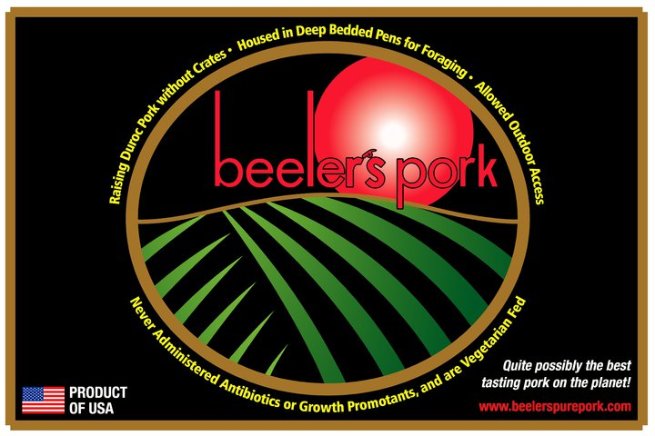 Iowa-Beeler's Pork label